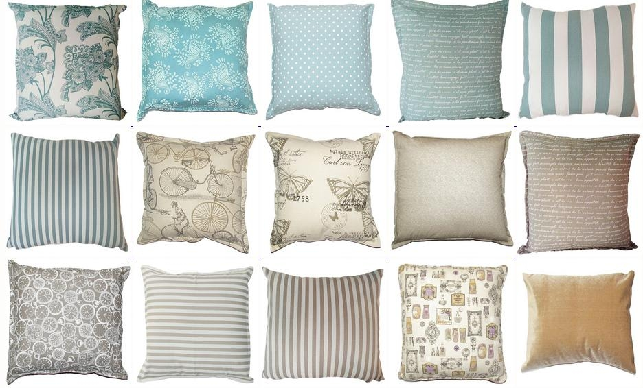 grey scatter cushions all