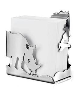 Note Paper Holder – Rhino. 25% of proceeds donated to WWF