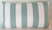 Grey Gardens cushions Aqua - Stripe large