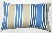 Grey Gardens cushions Nautical - Blue sand stripe