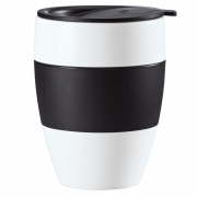 Koziol AROMA TO GO insulated cup with lid BLACK