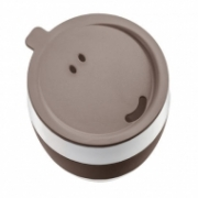 Koziol AROMA TO GO insulated cup with lid BROWN