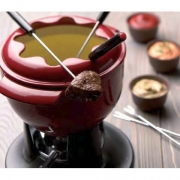 Chasseur Tulipe Fondue Set - Red