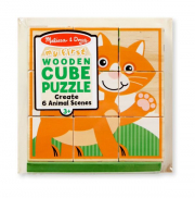 Melissa and Doug My First Wooden Cube Puzzle - Animals