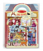 Melissa and Doug Pet Place Puffy Sticker Activity Book