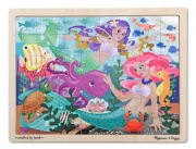 Melissa and Doug Mermaid Fantasea Wooden Jigsaw Puzzle (48 pc)