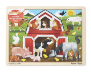 Melissa and Doug Bardyard Wooden Jigsaw 24 pc puzzle