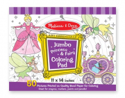 Melissa and Doug Jumbo Colouring Pad - Princess & Fairy