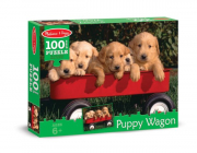 Melissa and Doug Puppy Wagon (100pc) Jigsaw Puzzle