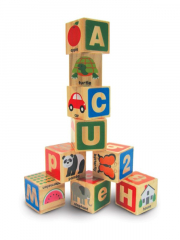 Melissa and Doug ABC 123 Wooden Blocks in a box