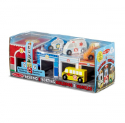 Melissa and Doug Nesting & Sorting Buildings and Vehicles