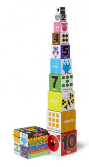 Melissa and Doug Numbers, Shapes & Colours Stacking Blocks