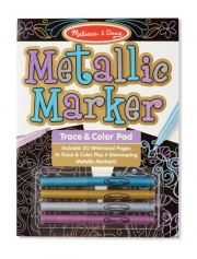 Melissa and Doug Metallic Marker Trace and Colour Pad