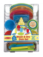 Melissa and Doug Lets Play House! Wash & Dry Dish Set