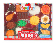 Melissa and Doug Food Fun Combine & Dine Dinners - Red