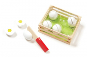 Melissa and Doug Slice and Sort Wooden Eggs
