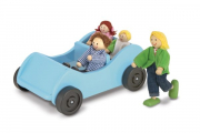 Melissa and Doug Wooden Car and Pose-able Passangers