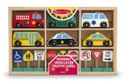 Melissa and Doug Traffic Signs and Vehicles