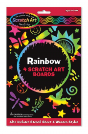 Melissa and Doug Rainbow Scratch Art Boards