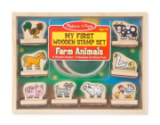 Melissa and Doug My First Wooden Stamp Set - Farm Animals