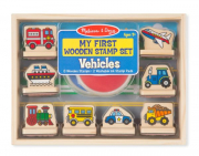 Melissa and Doug My First Wooden Stamp Set - Vehicles