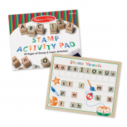 Melissa and Doug Wooden ABC Activity Stamp Set