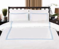 Exclusive Home Fashions GREYTON AQUA linen set - QUEEN