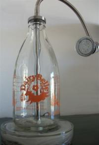 REcreate Dairybelle Orange, Milk Bottle Lamp