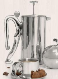 Carrol Boyes COFFEE PLUNGER - full of beans